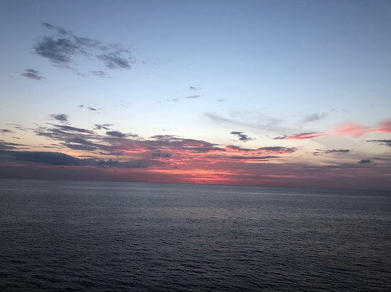 Empress of the Seas: Sunset from deck 10