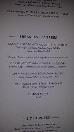 Norwegian Getaway: Breakfast Menu