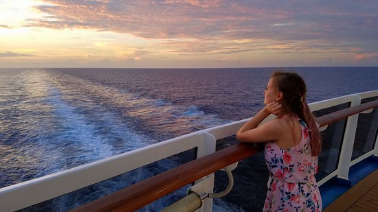 Carnival Breeze: Sunset on deck 5 aft