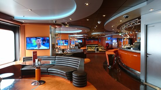 MSC Divina: The Sports Bar with Bowling (at extra cost)