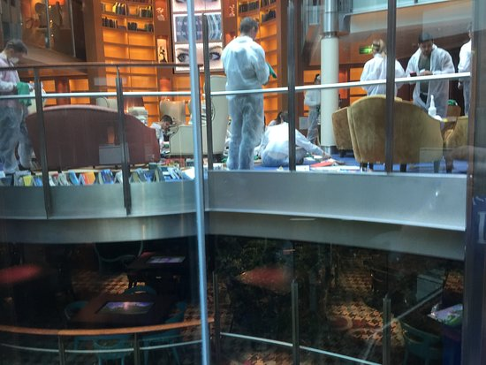 Celebrity Reflection: Code red cleaning all the library books after outbreak of Nora Virus