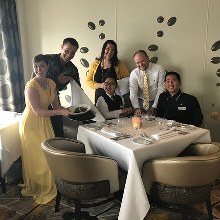 Celebrity Reflection: As our request, we had Lalita and Bernard for our waiters at the Opus resta