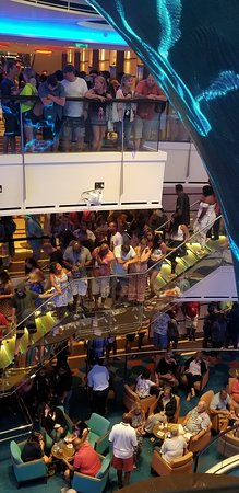 Carnival Vista: Want to get into a show? Theater is closed until 30 minutes before the show, be prepare to do another line in small spaces!!