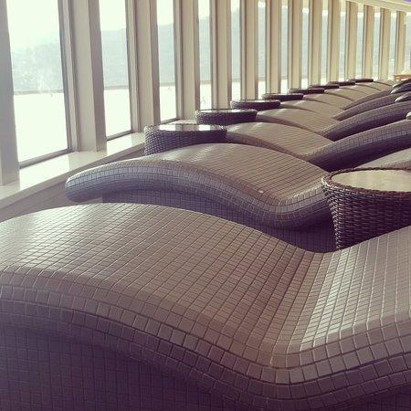 Norwegian Getaway: Spa heated tile loungers