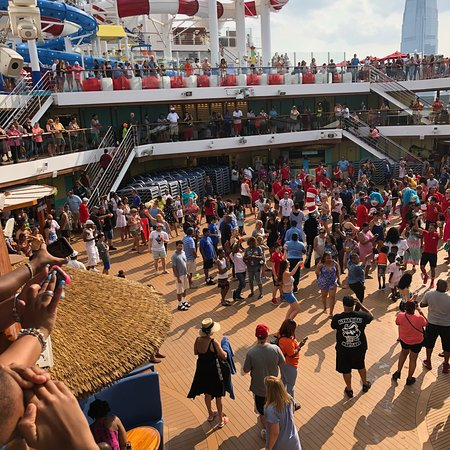 Carnival Horizon: The sail away party was fun, but make sure to take time to enjoy the view a