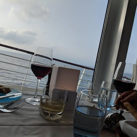 Viking Orion: View during dinner