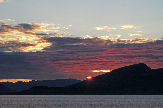Viking Sea: Midnight Sun (actually about 2am) from our veranda