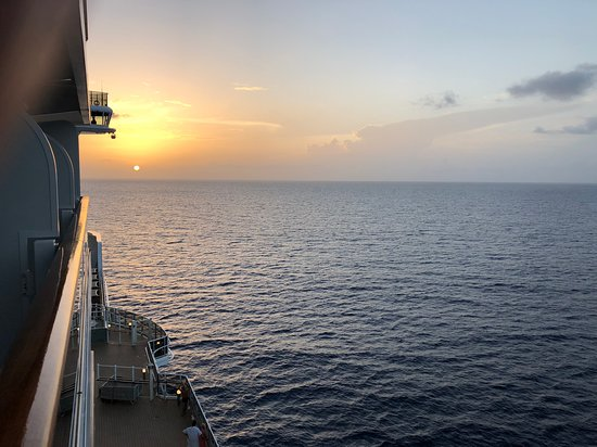 MSC Seaside: Sunrise from our private balcony.