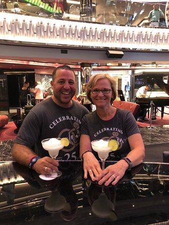 MSC Seaside: Lobby bar. Just got on the boat!