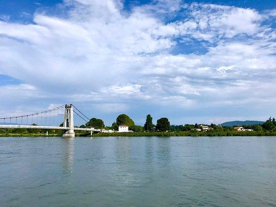 Viking Buri: Wispy white clouds and blue skies over The Rhône.