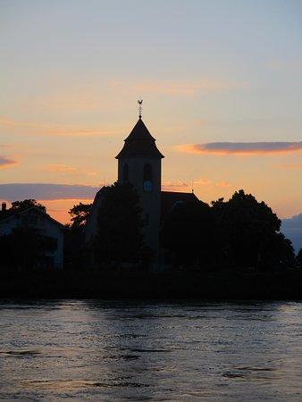 Viking Kvasir: A Church as we sail on the river Rhine