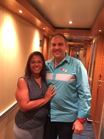 Carnival Horizon: Our Room Steward Ole and Myself.