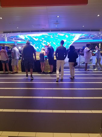 Vivaldi: Over looking the 2nd LED sculpture in the casino.