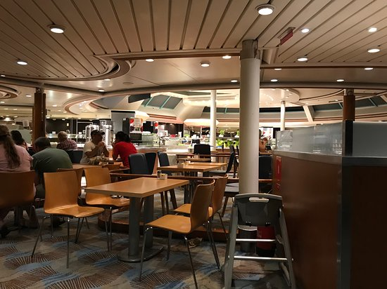 Empress of the Seas: Wind Jammer Dining area for the buffet. Always had a table available. It wa