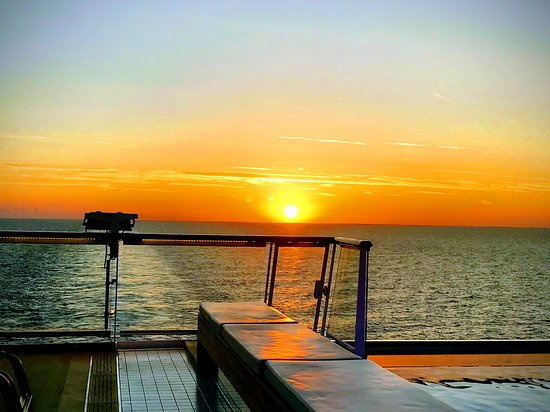 Sunset over the Baltic from the deck of the Viking Star