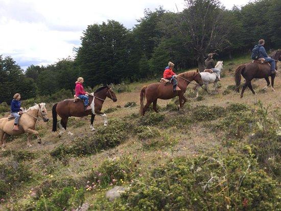 Brava: The horseback ridding whit my childrens