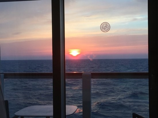 View from out balconey.  Viking Star March 2018, this is the only sun we sa