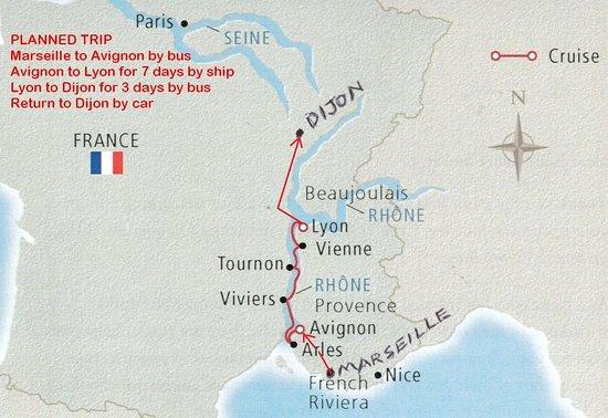 Viking Buri: Our route