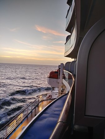 Regal Princess: Evening view from balcony E420