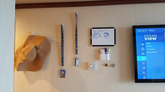 Regal Princess: What I hang on the Wall; Magnetic Hooks, Whiteboard (to leave message for y