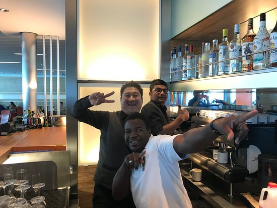 Celebrity Reflection: Friendly Staff welcoming me with a special drink!