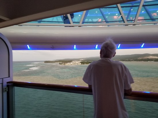 Regal Princess: View from our mini suite balcony that we were never able to use due to peop