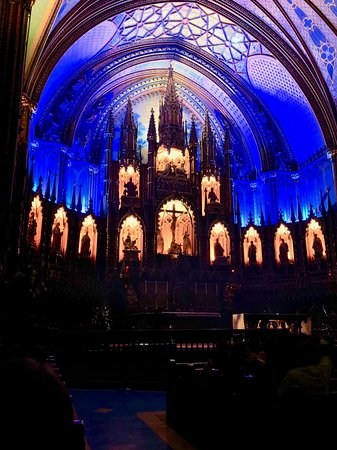 Viking Star: Notre Dame Cathedral altar prior to the Aura Light Show.