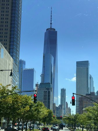 Viking Star: The Freedom Tower, Manhattan, NYC during bus and boat tour.