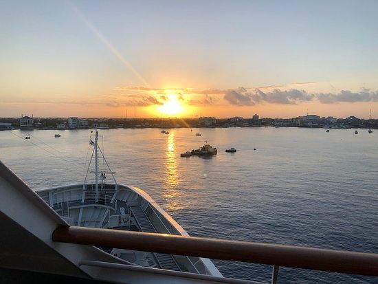 Empress of the Seas: View from our balcony entering Havana Harbor