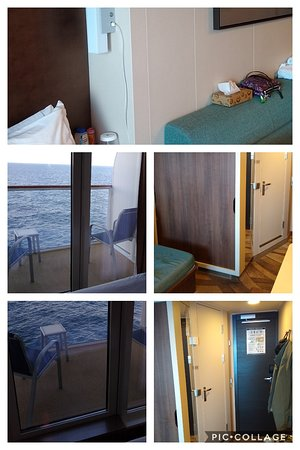 Norwegian Escape: Typical Escape Balcony - this is portside