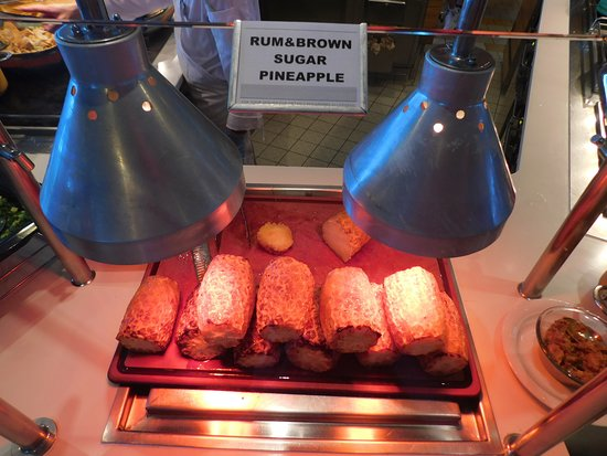 Celebrity Reflection: YUM! Rum & brown sugar grilled pineapple