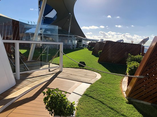 Celebrity Reflection: Lawn area.
