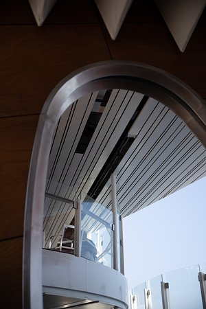 Celebrity Edge: Aluminum missing in the ceiling forward of the cabanas.  On a 3 month old s