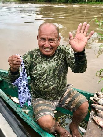 Aria Amazon: We gave a local 79 year old fisherman a bag of salt, fishing line and hooks