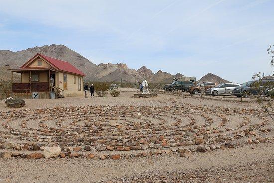 Rock circle labyrinth and visitors center
