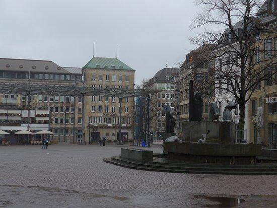 Bremen, Domshof, Neptun fountain ('Neptunbrunnen')