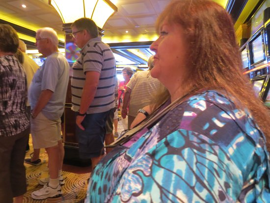 Royal Princess: Casino had plenty of slots, blackjack, video poker but machines tight!