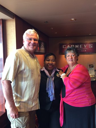 Norwegian Pearl: Us with the best MaitreD Whitney (every day, a smile)