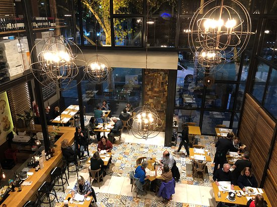 Two storage restaurant. Very modern and cool decoration - Picture of ...