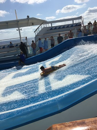 Independence of the Seas: The Flow Rider surf simulator