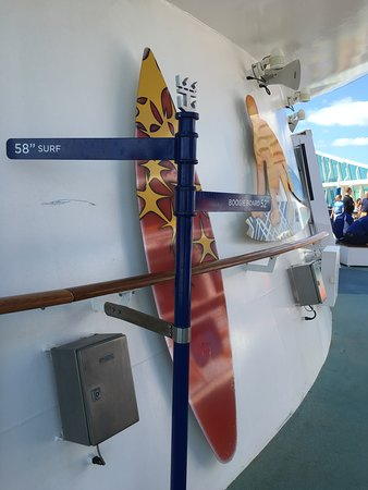 Independence of the Seas: How tall you have to be to go on the surf simulator