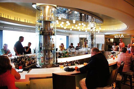Celebrity Equinox: The Martini Bar - best bar on the ocean!