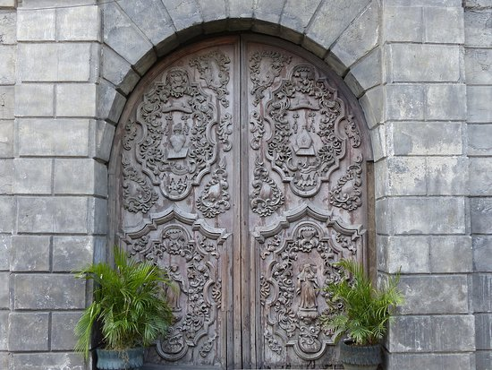 Azamara Quest: A side door of the UNESCO protected San Augustin Church in Manila.