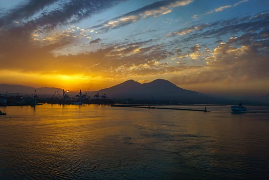 Norwegian Epic: Good morning Naples! (I shot this picture from the balcony of our cabin.)