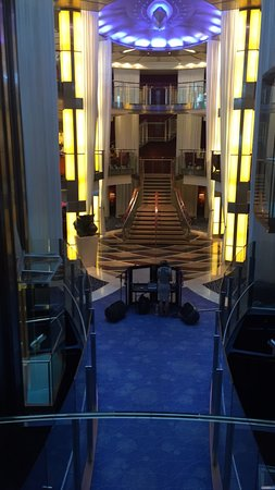 Celebrity Solstice: this is the main area, you can see the tiny space for dancing