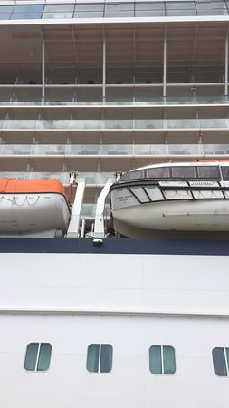 Celebrity Solstice: View of our cabin