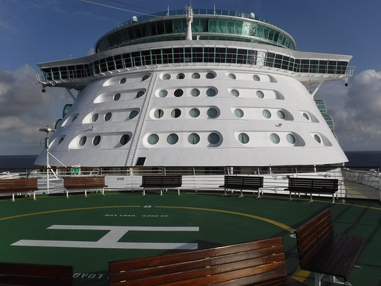 Liberty of the Seas: Up on the bow.