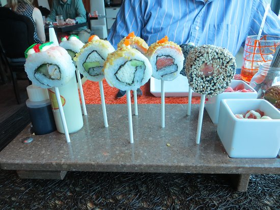 Celebrity Silhouette: Sushi Lollypops from QSine restaurant
