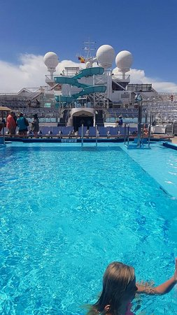 Carnival Freedom: View from the pool