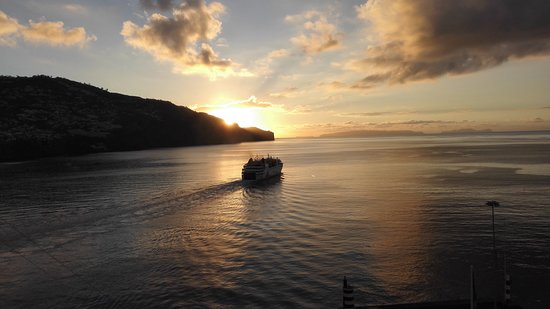 Celebrity Eclipse: Sunrise over Madeira